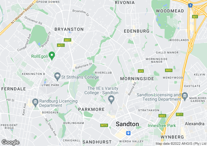 Map for River Club, Gauteng