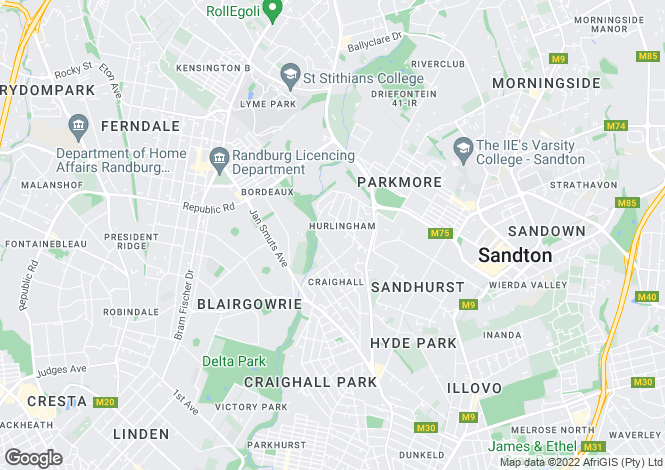 Map for 10 Lovat Road, Hurlingham, Sandton, Gauteng