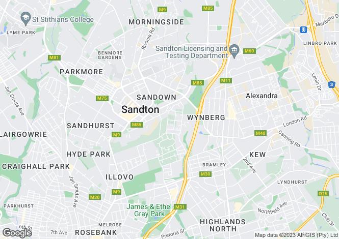 Map for 12 Somerset Estate, 100 East Avenue, Atholl, Johannesburg