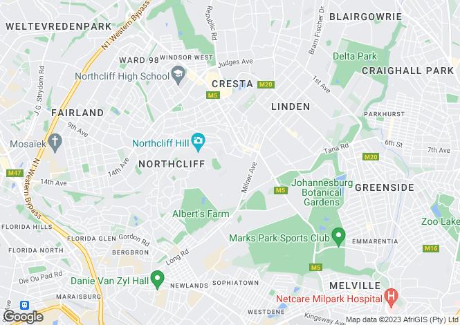 Map for 19 Hillel Drive, Northcliff, Johannesburg, Gauteng