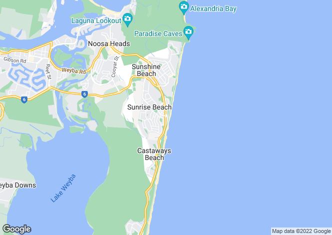 Map for Sunrise Beach, Queensland