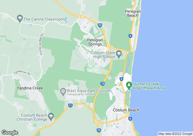 Map for Peregian Beach South, Queensland