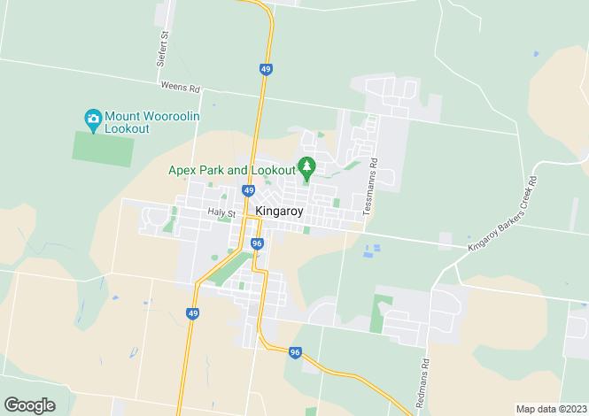 Map for Queensland, Kingaroy