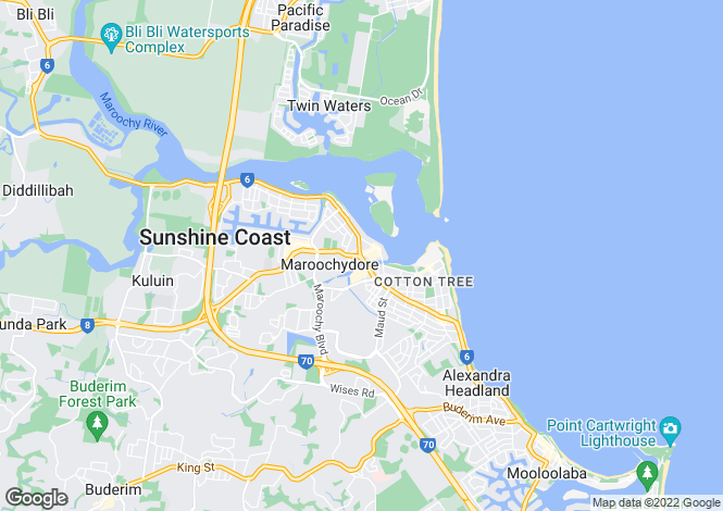 Map for MAROOCHYDORE 4558