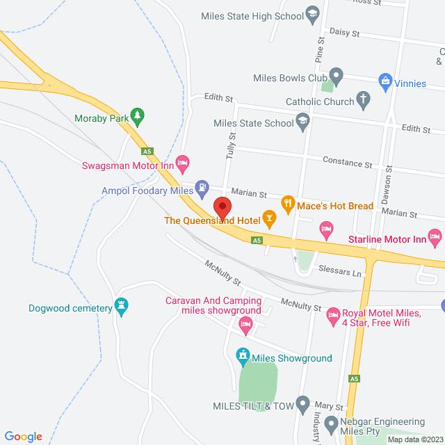 Avis Car & Truck Rental (Miles) Location Map