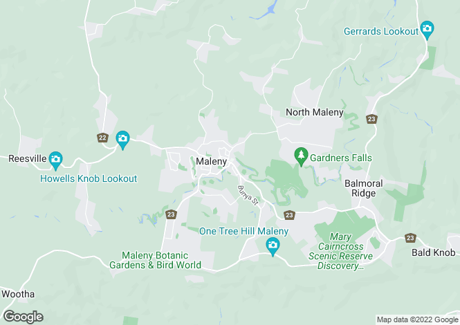 Map for 191 Policeman Spur Road, MALENY 4552