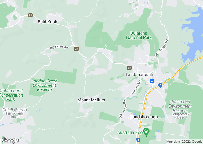 Map for 3091 Old Gympie Road, MOUNT MELLUM 4550