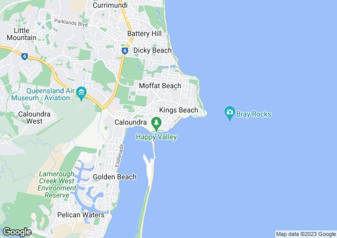 Map for 43 Verney Street, KINGS BEACH 4551
