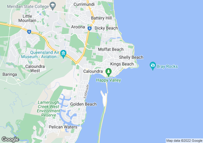 Map for CALOUNDRA 4551