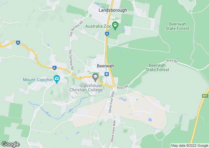 Map for BEERWAH 4519