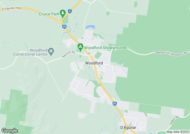 Map for WOODFORD 4514