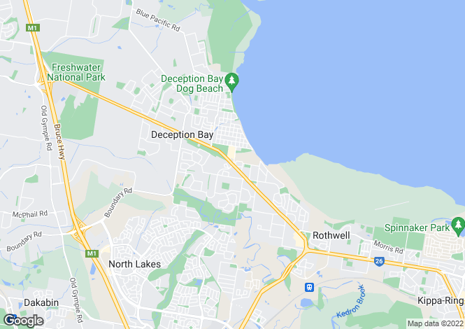Map for DECEPTION BAY 4508