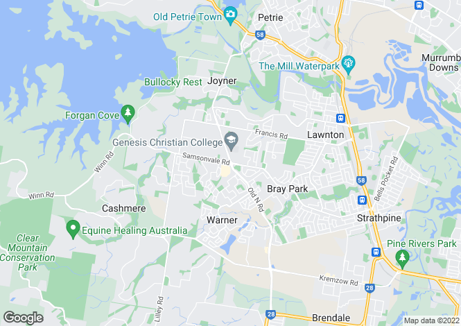 Map for 20 Sarow Drive, WARNER 4500