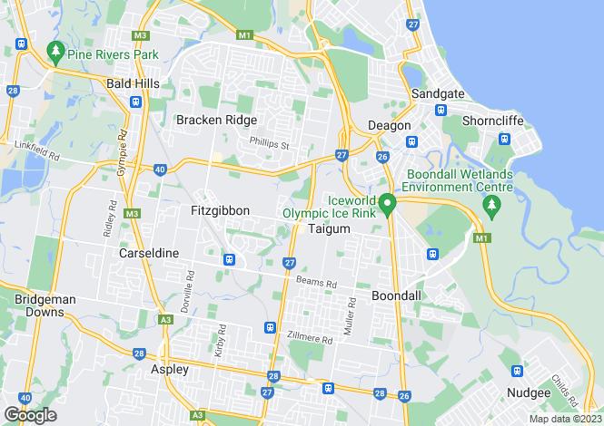Map for Queensland, Taigum