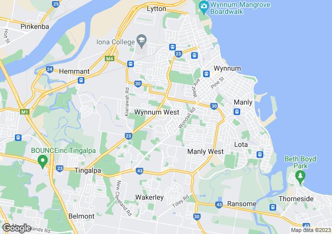 Map for 33 Natasha, WYNNUM WEST 4178