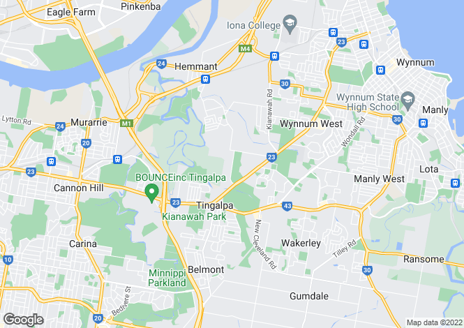 Map for 42/1596 Wynnum Rd, TINGALPA 4173