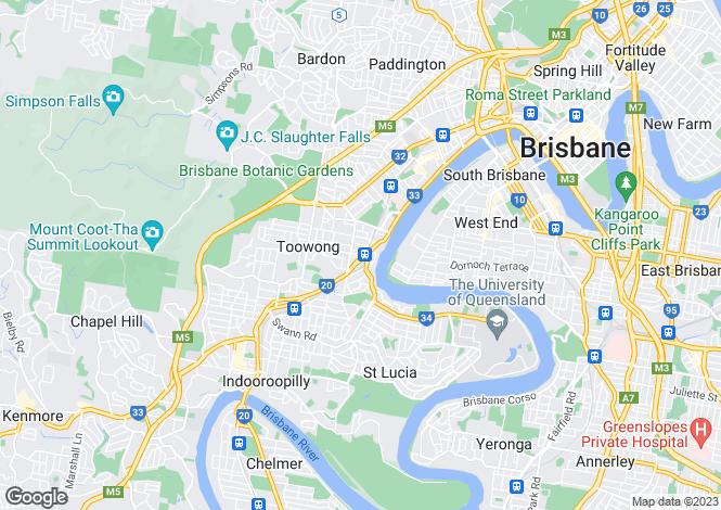 Map for 401/50-52 Sylvan Road, Toowong 4066