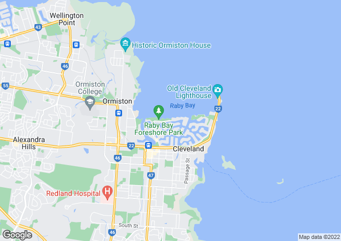 Map for 77 Masthead Drive, RABY BAY 4163