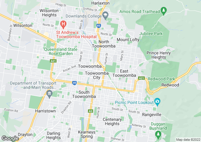 Map for 113 Campbell Street, TOOWOOMBA CITY 4350