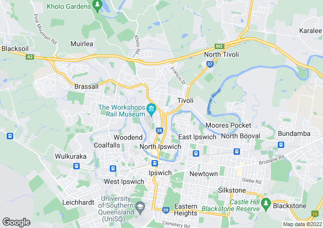 Map for 28A Pine Street, NORTH IPSWICH 4305