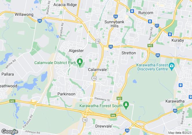 Map for Queensland, Calamvale