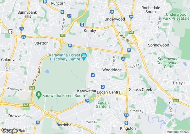 Map for 60 Ewing Road, Woodridge 4114