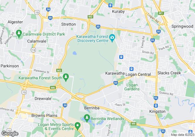 Map for 466 Wembley Road, BERRINBA 4117