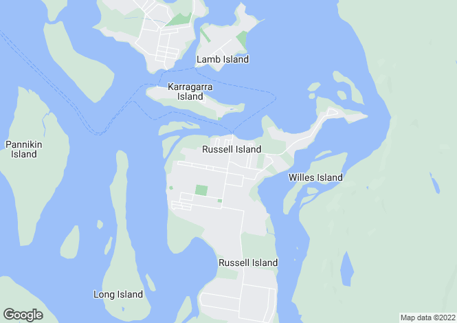 Map for 5 Thompson, Russell Island 4184