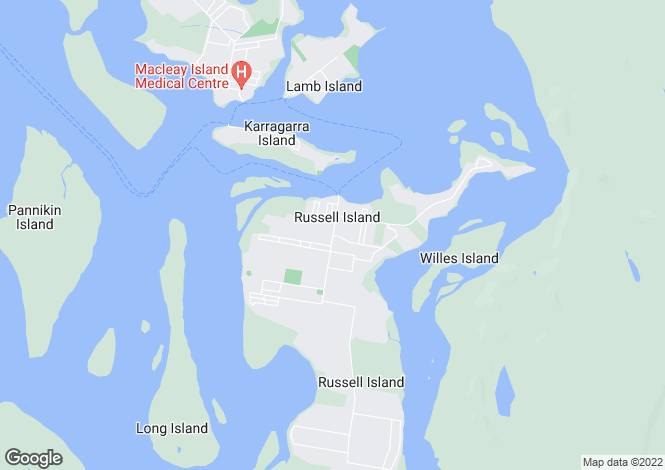 Map for 4 Benaud, RUSSELL ISLAND 4184