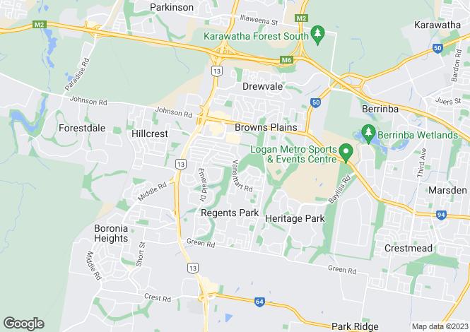 Map for 22 Charlton Place, Regents Park 4118