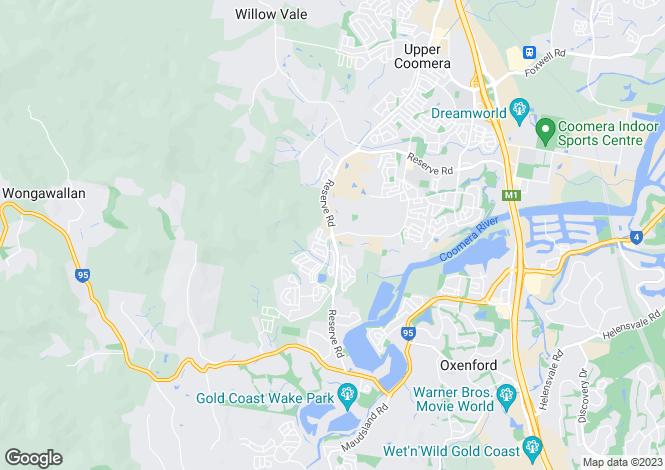 Map for 27 Memorial Drive, Upper Coomera 4209