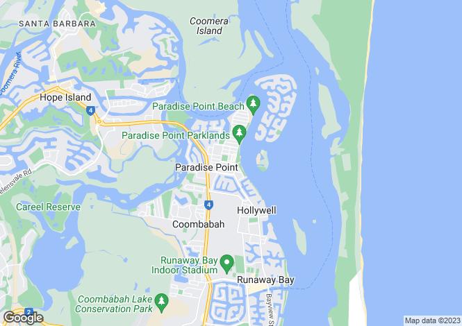 Map for 9104/2 Ephraim Island, PARADISE POINT 4216