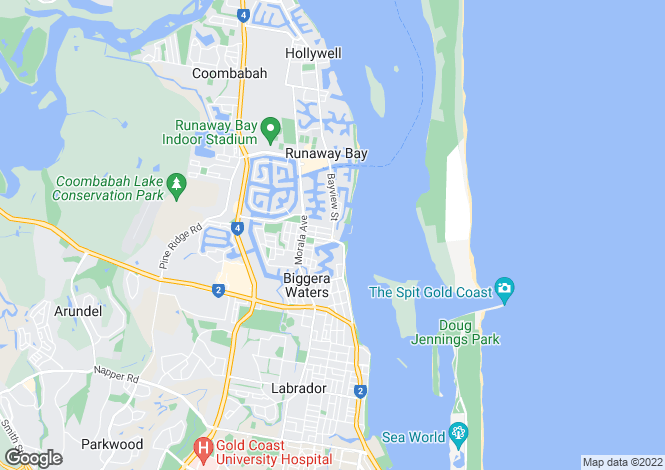 Map for 8/12-18 Bayview Street, RUNAWAY BAY 4216