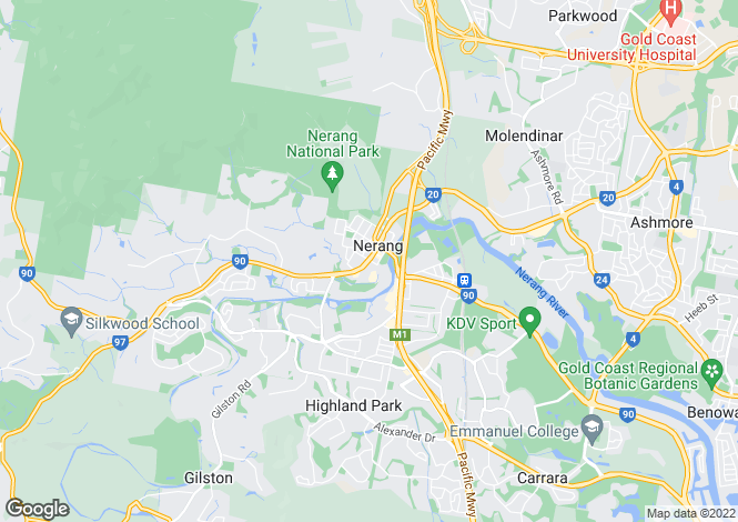 Map for NERANG 4211