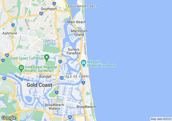 Map for SURFERS PARADISE 4217