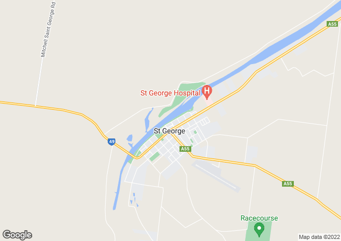 Map for Mitchell Road , ST GEORGE 4487