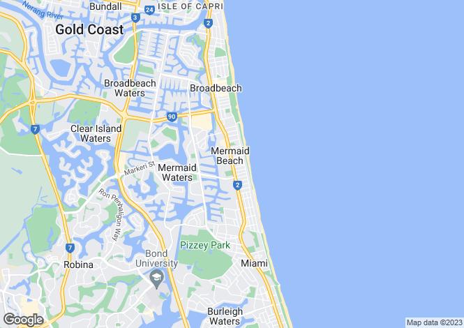 Map for 710/9-15 Markeri Street, Mermaid Beach 4218