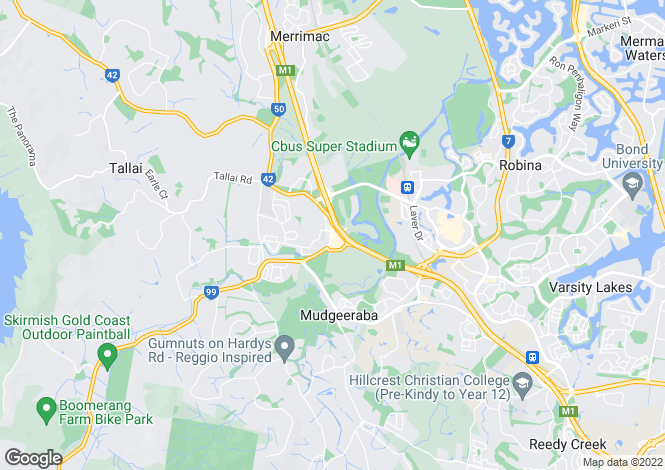 Map for 87 Wallaby Drive, MUDGEERABA 4213