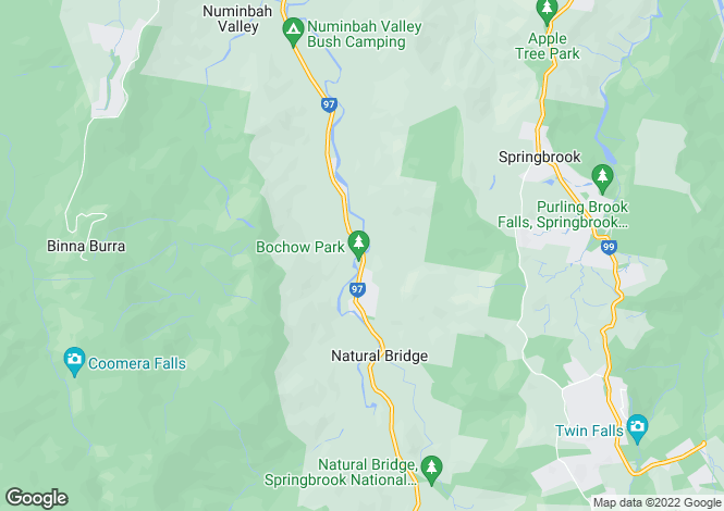 Map for 3135 Nerang-Murwillumbah Road, NATURAL BRIDGE 4211