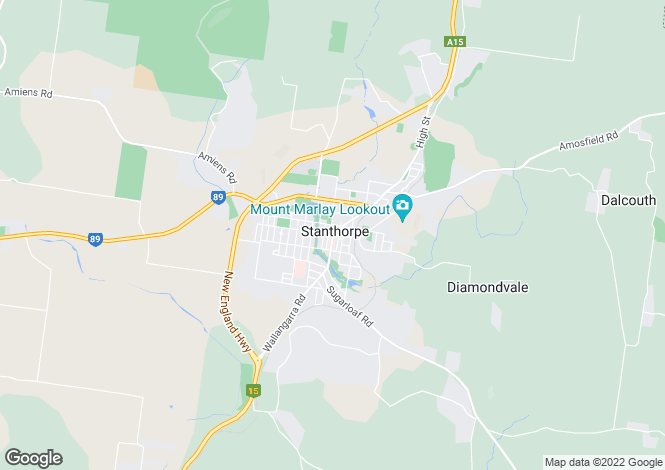 Map for 92 Johnstone Lane, STANTHORPE 4380