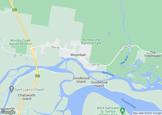 Map for 200 Fat Duck Road, WOOMBAH 2469