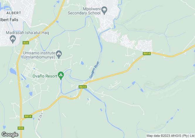 Map for KwaZulu-Natal, Everton
