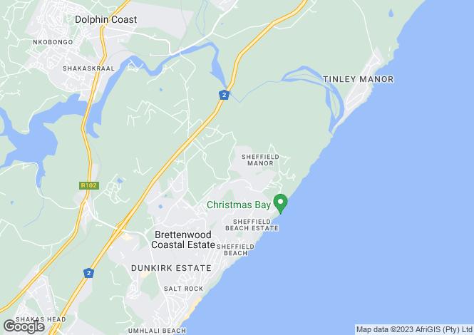 Map for 11 Palm Close, Zimbali, Ballito, KwaZulu-Natal