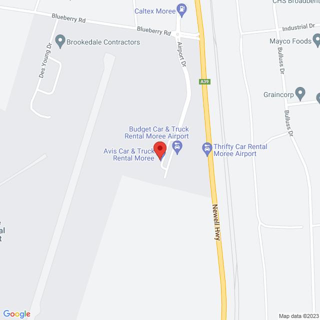 Avis Car & Truck Rental (Moree Airport) Location Map