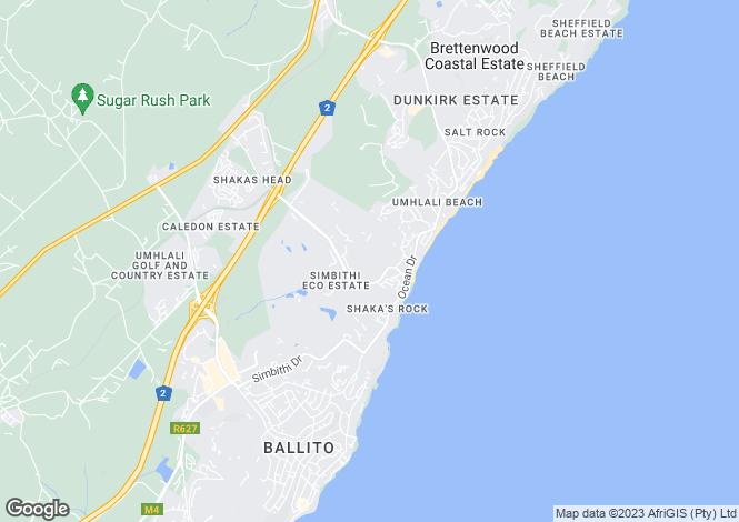 Map for Erf 623, Simbithi, Ballito, KwaZulu-Natal