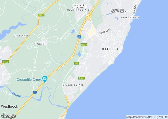 Map for 2 Imbali Lakes, Zimbali, Ballito, KwaZulu-Natal