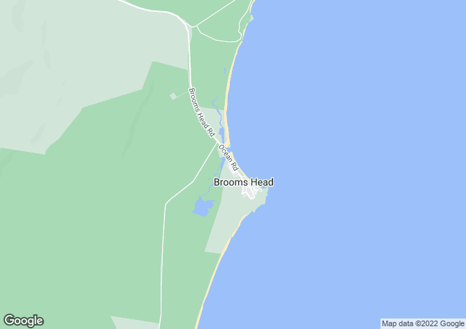 Map for 140 Ocean Road, BROOMS HEAD 2463