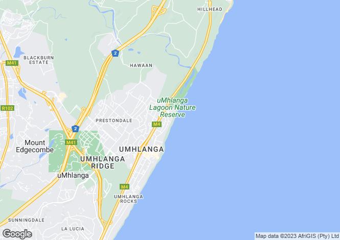 Map for 72 Lagoon Drive, Umhlanga, KwaZulu-Natal, South Africa