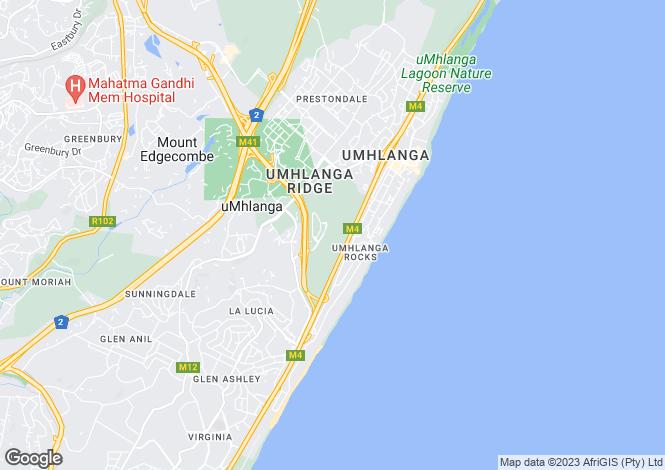 Map for 1 North Shore, 1 Ocean Way, Umhlanga, KwaZulu-Natal