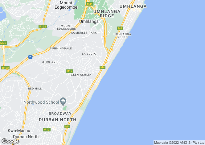 Map for 8 Cowrie Terrace, La Lucia, Umhlanga, KwaZulu-Natal